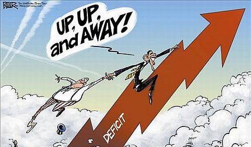 deficit crash skyrocket
