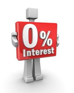 zero interest null zins