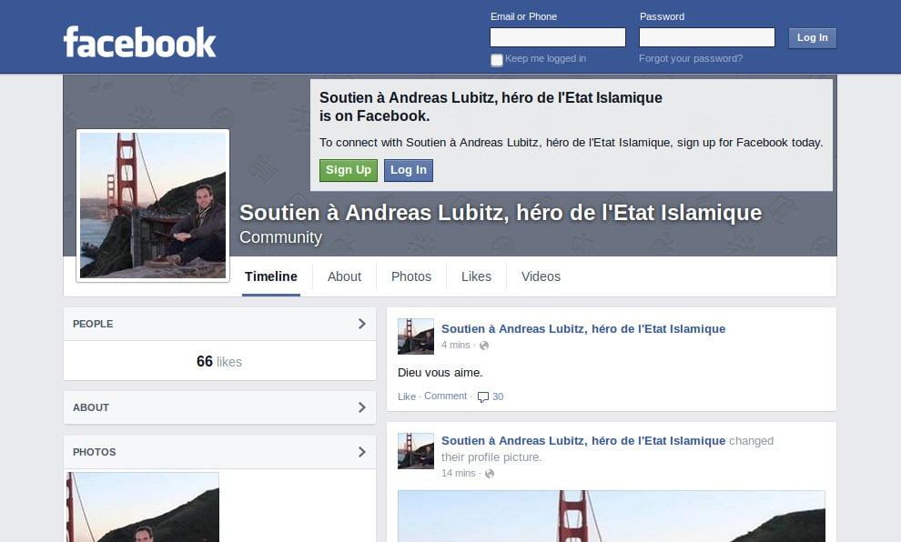 Soutien à Andreas Lubitz, hero de l'Etat Islamique-GoogleCache