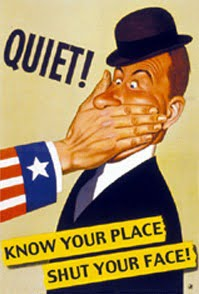know your place shut your face propaganda