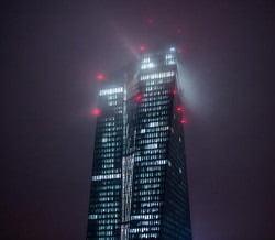 ezb tower at night