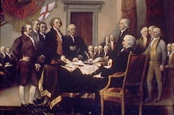adams-signing-declaration independence day usa july 4th