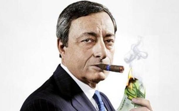 mario draghi burning cash