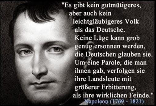 Napoleon über die Deutschen